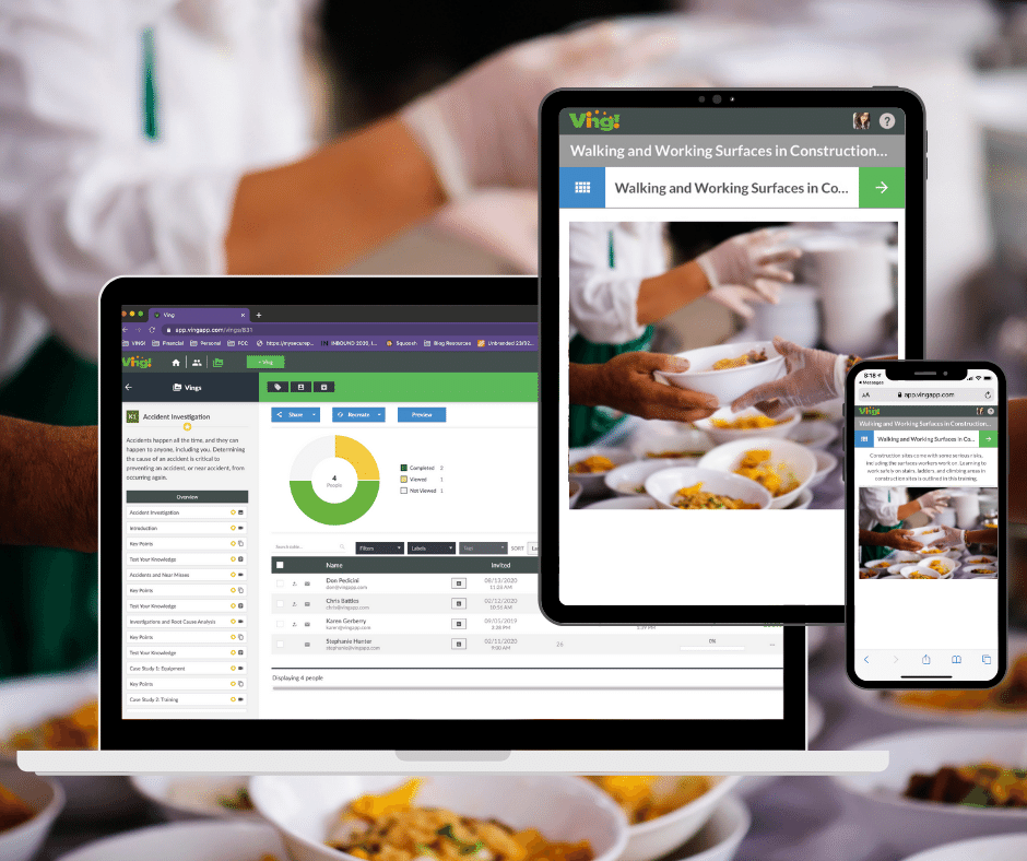 food services - this is ving on devices